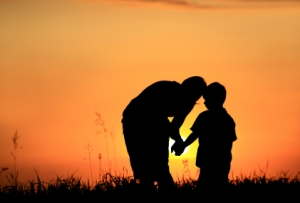 Parent with Child Silhouette from Bing Images