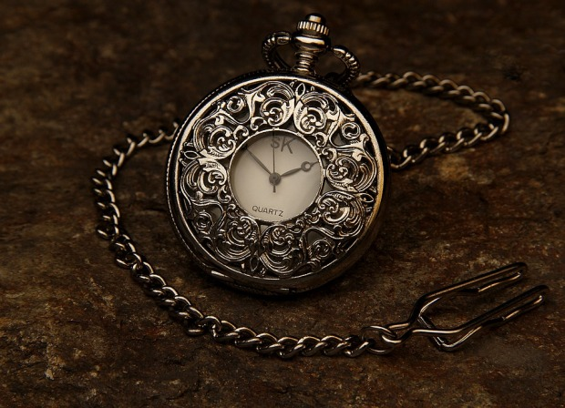 Clock Pocket Watch Jewel Time Hour Stone Chain